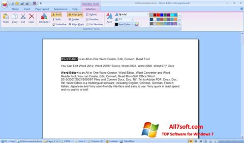 স্ক্রিনশট DocX Reader Windows 7