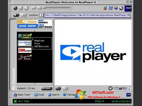 স্ক্রিনশট RealPlayer Windows 7