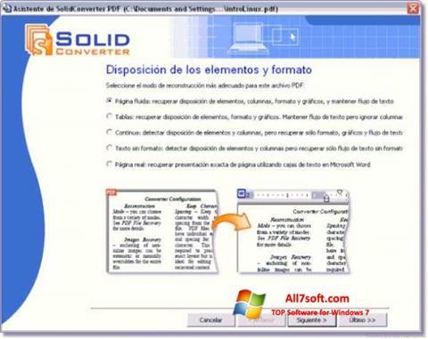 স্ক্রিনশট Solid Converter PDF Windows 7
