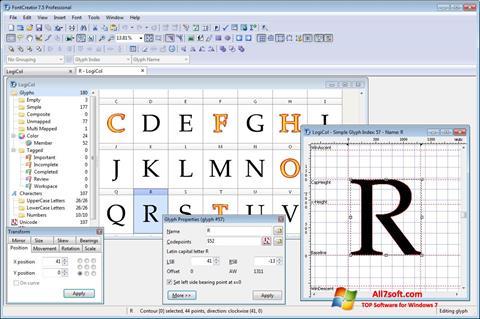 স্ক্রিনশট Font Creator Windows 7