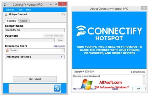 স্ক্রিনশট Connectify Hotspot Windows 7