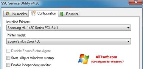 স্ক্রিনশট SSC Service Utility Windows 7