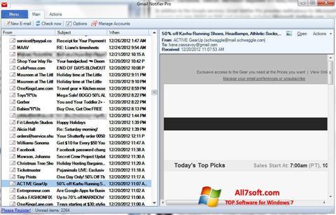 স্ক্রিনশট Gmail Notifier Windows 7