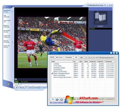 স্ক্রিনশট SopCast Windows 7