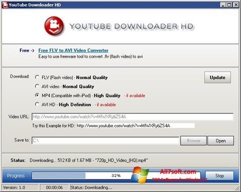 স্ক্রিনশট Youtube Downloader HD Windows 7