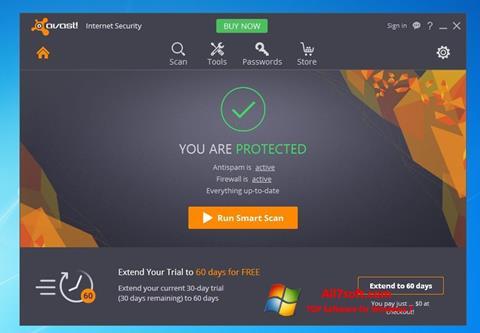 স্ক্রিনশট Avast Internet Security Windows 7