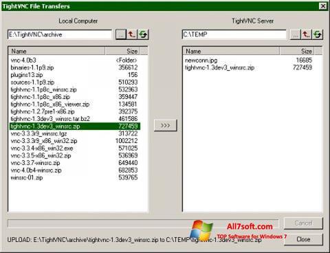 স্ক্রিনশট TightVNC Windows 7