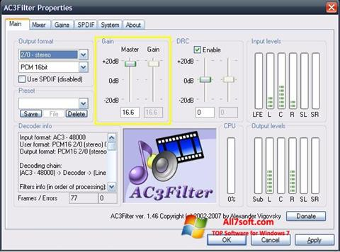 স্ক্রিনশট AC3Filter Windows 7