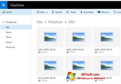 স্ক্রিনশট OneDrive Windows 7