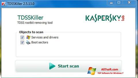 স্ক্রিনশট Kaspersky TDSSKiller Windows 7
