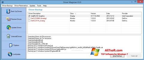 স্ক্রিনশট Driver Magician Windows 7
