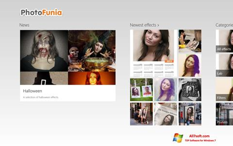 স্ক্রিনশট PhotoFunia Windows 7