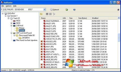 স্ক্রিনশট IsoBuster Windows 7