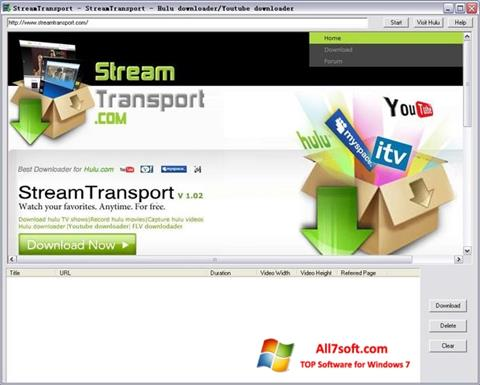 স্ক্রিনশট StreamTransport Windows 7