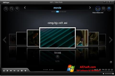 স্ক্রিনশট KMPlayer Windows 7